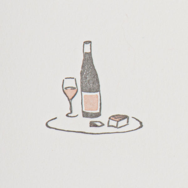 Wine & Cheese Blank Note Card Set