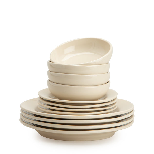 Linen 1973 12-Piece Dinnerware Set