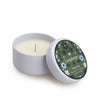 Taupe Teak Tin Candle