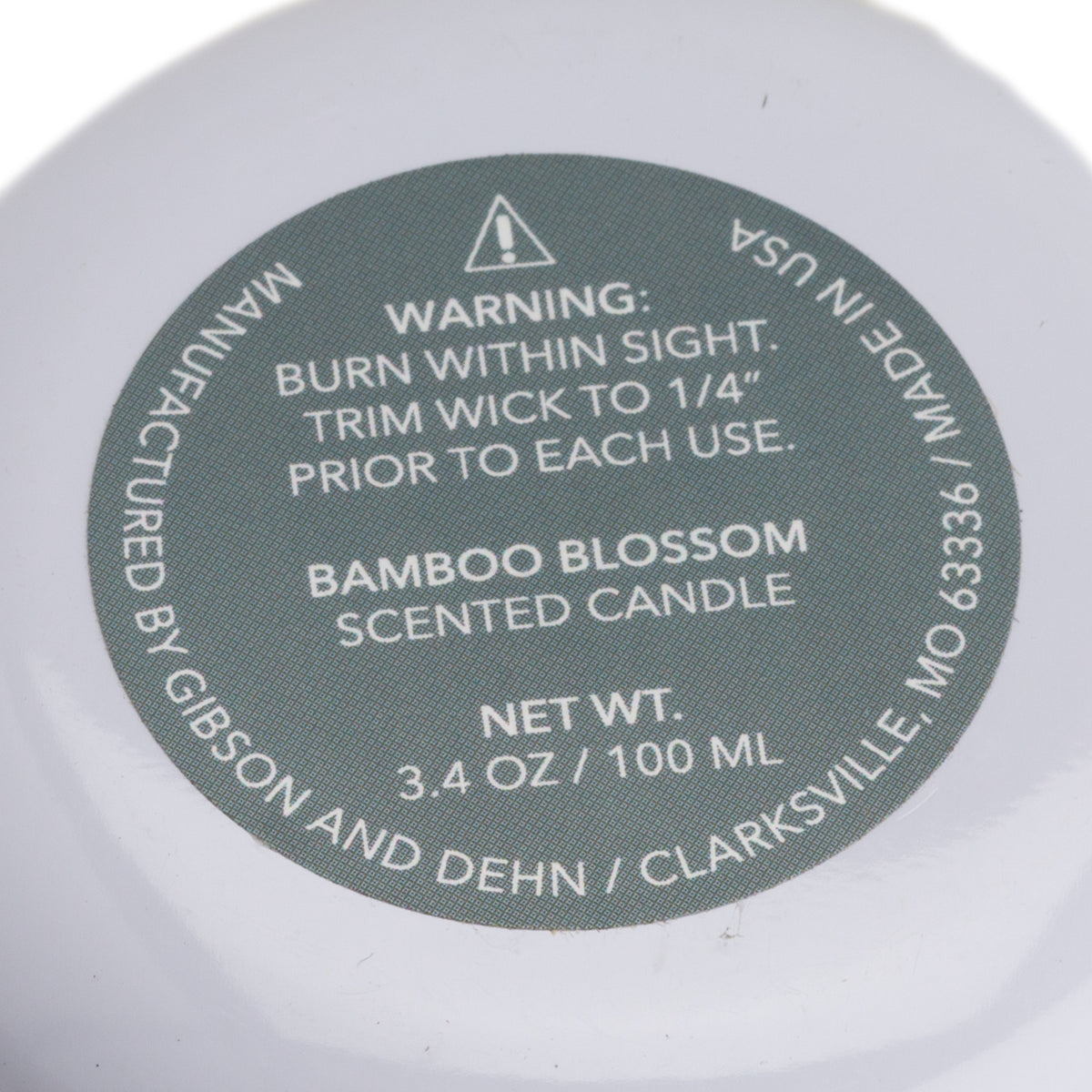 Bamboo Blossom Tin Candle