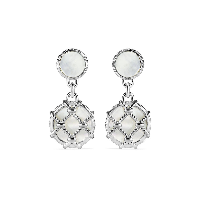 Isola Double Drop Earrings with Mother of Pearl
