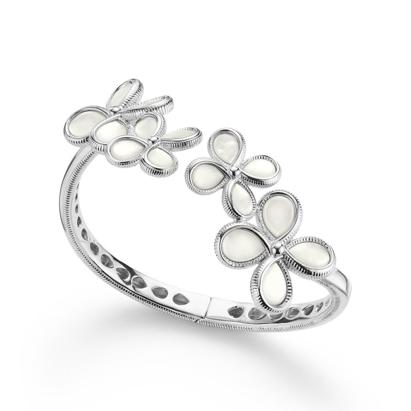 Jardin Bouquet Cuff Bracelet with Mother of Pearl
