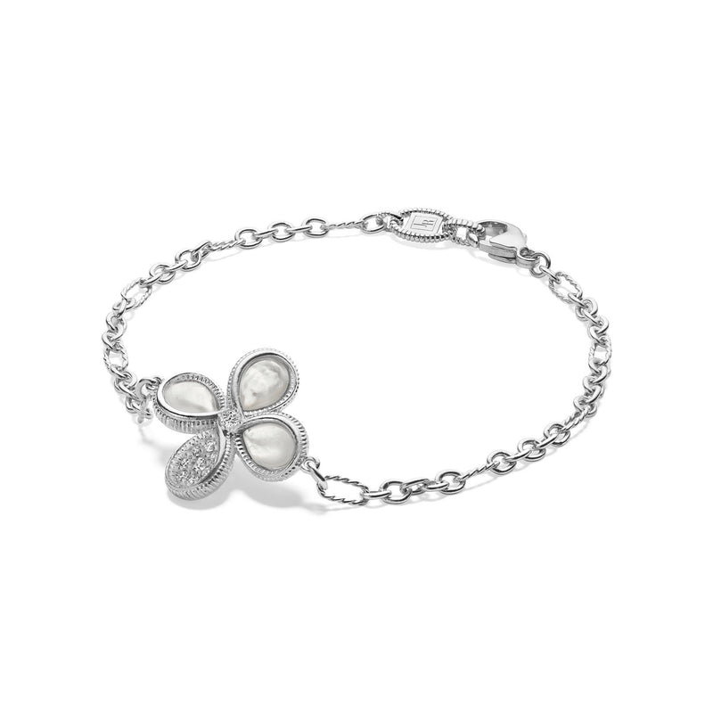 Jardin Bracelet with Mother of Pearl and Diamonds