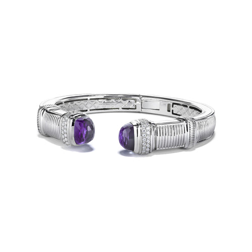 Cassandre Large Bracelet with Amethyst and Diamonds