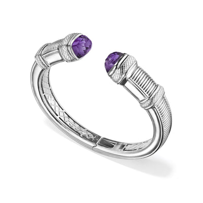 Cassandre Large Bracelet with Amethyst