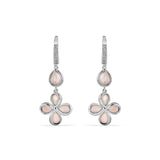 Jardin Petal Drop Earrings with Pink Mother of Pearl and Diamonds