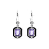Adrienne Drop Earrings with Enamel, Amethyst and Diamonds