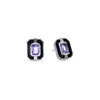 Adrienne Stud Earrings with Enamel and Amethyst