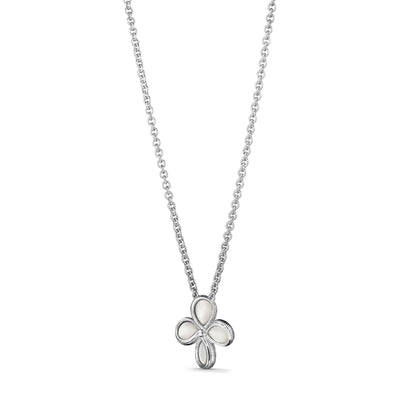Jardin Flower Pendant Necklace with Mother of Pearl