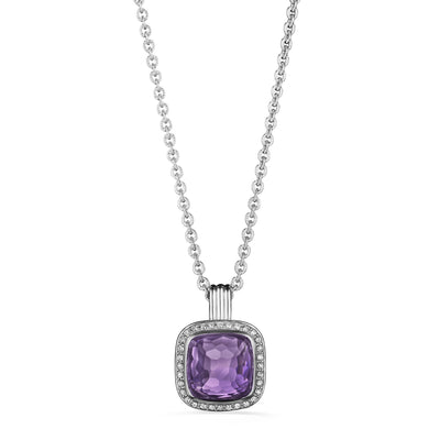 Cassandre Necklace with Amethyst and Diamonds
