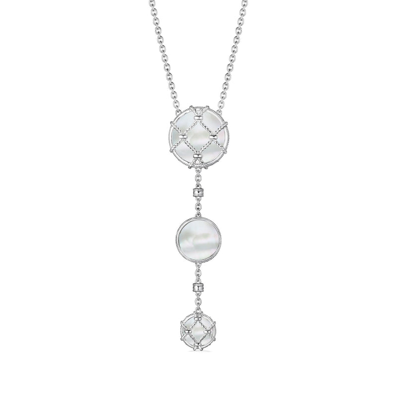 Isola Y Necklace with Mother of Pearl