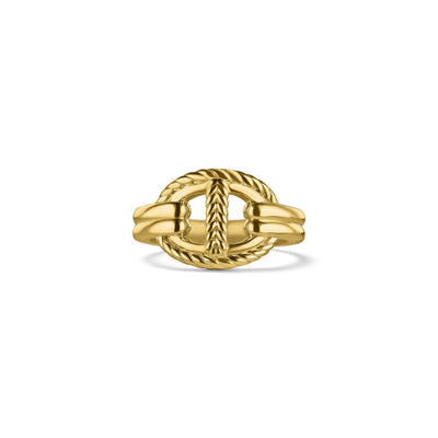 Vienna Single Link Ring in 18K