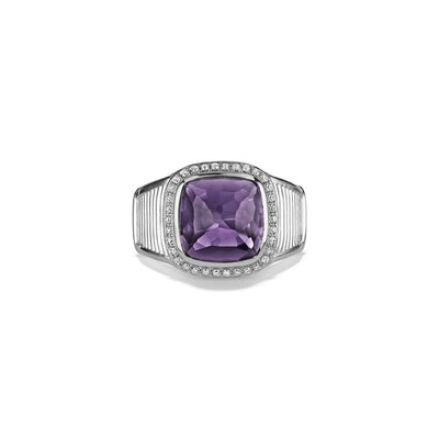 Cassandre Ring with Amethyst and Diamonds