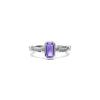 Adrienne Stack Ring with Amethyst