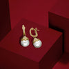 Paloma Small Earrings with Freshwater Pearls and Diamonds in 18K