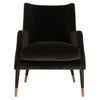 Shale & Antique Brass Sicily Velvet Arm Chair