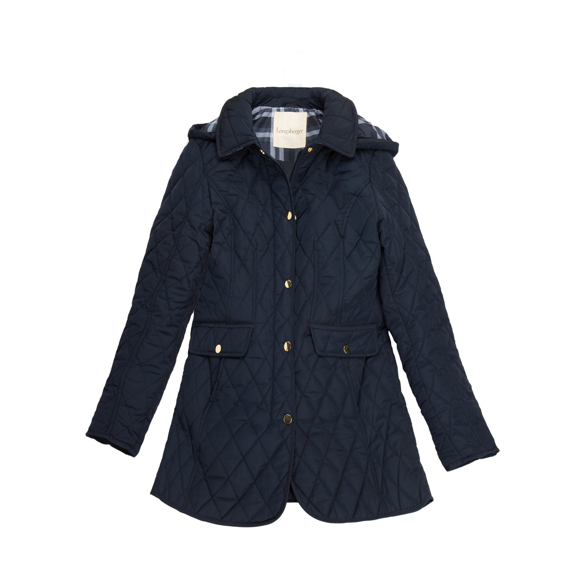 Deep Navy Diamond Quilted Barn Jacket
