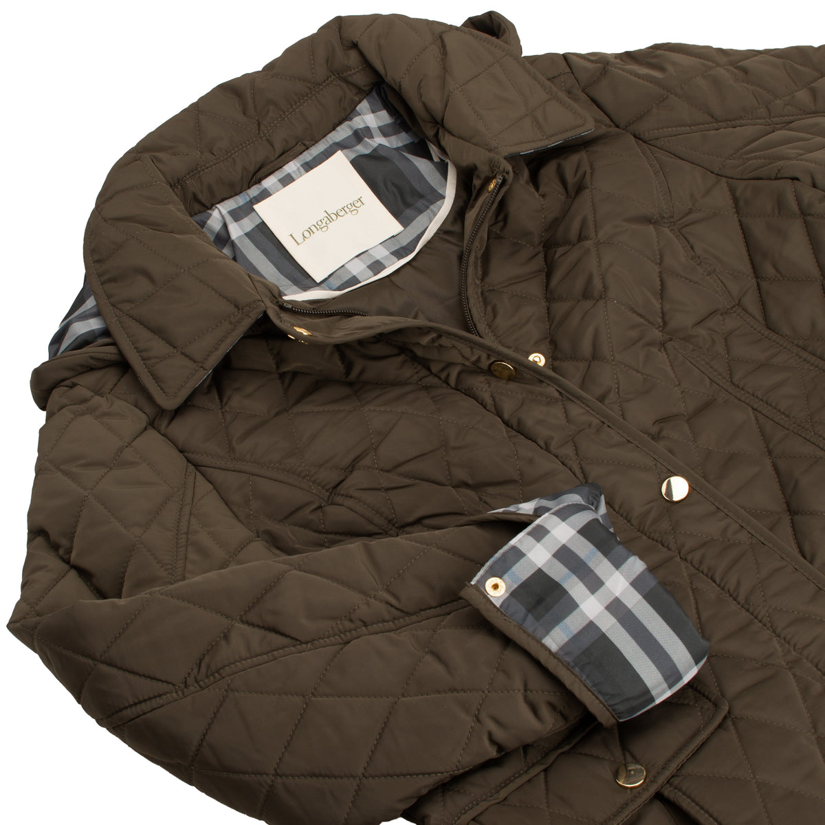 Olive Diamond Quilted Barn Jacket