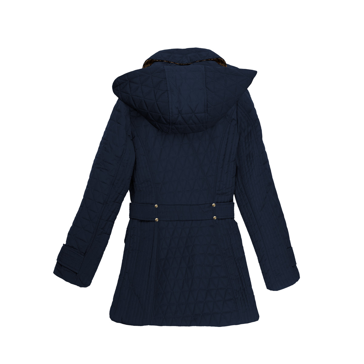 Deep Navy Half Diamond Quilted Barn Jacket