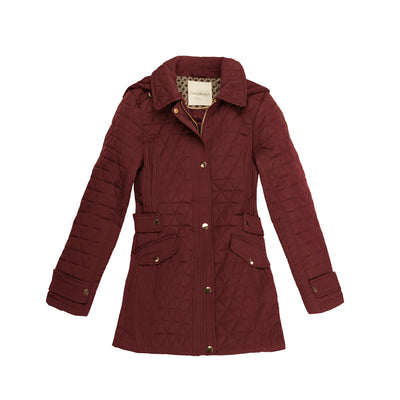 Ruby Port Half Diamond Quilted Barn Jacket