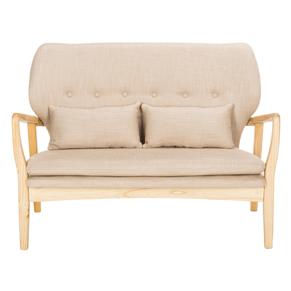 Beige & Natural Ellaria Loveseat