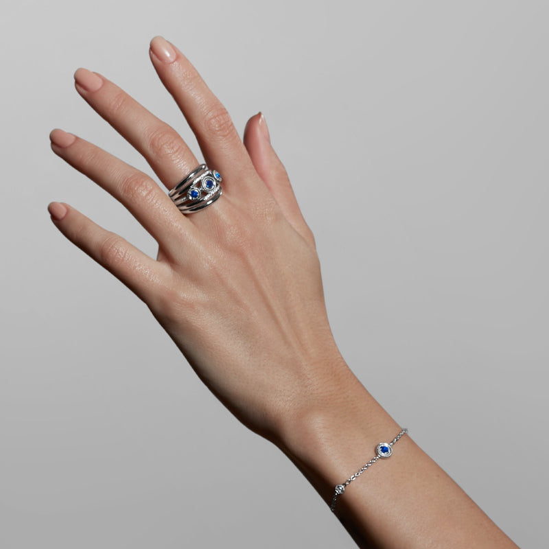 Max Bracelet with Sapphire and Diamonds