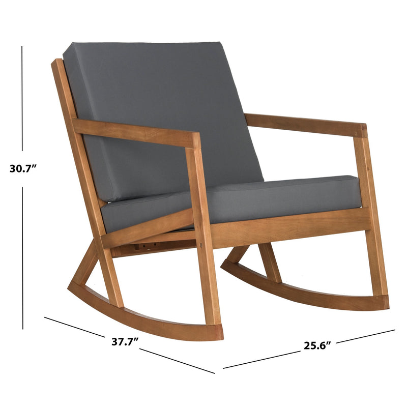 Natural Vernon Rocking Chair with Grey Cushions
