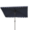 Navy & White Venice Rectangular Umbrella