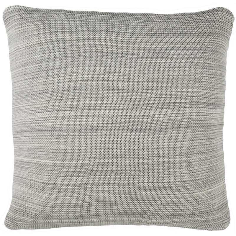 Grey Loveable Knit Pillow