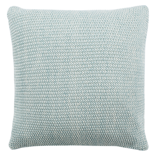 Blue & Natural Liliana Knit Pillow
