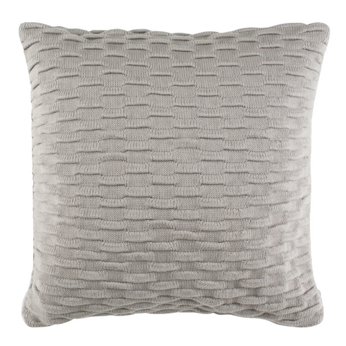 Grey Noela Knit Pillow