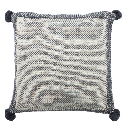 Grey & Natural Dania Knit Pillow