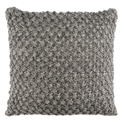 Grey & Natural Janan Knit Pillow