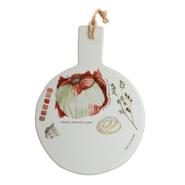 Farm to Table Stoneware Cheese Board