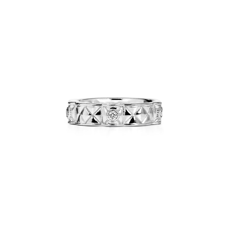 Max Stack Band Ring with Diamonds