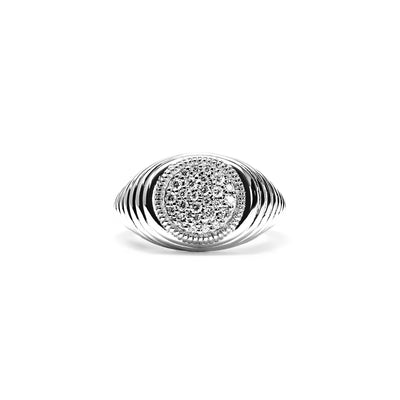 Max Signet Ring with Diamonds