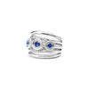 Max Band Ring with Sapphire and Diamonds