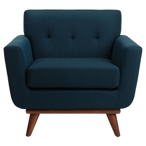 Opal Linen Tufted Arm Chair