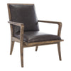 Dark Brown Rumor Mid-Century Accent Chair