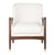 Cream Flannery Mid-Century Accent Chair