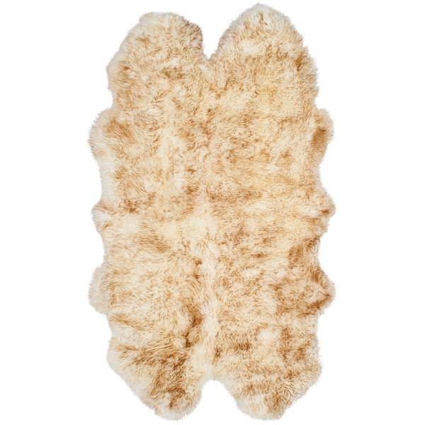 Off White & Coco Brown Sheep Skin Rug