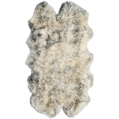 Ivory & Smoke Grey Sheep Skin Rug