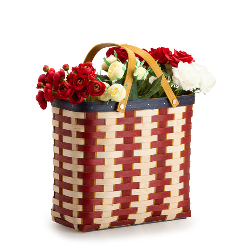 Americana Tall Tote Basket & Protector Set