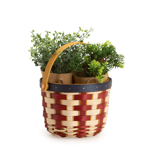 Americana Short Round Fruit Basket & Protector Set