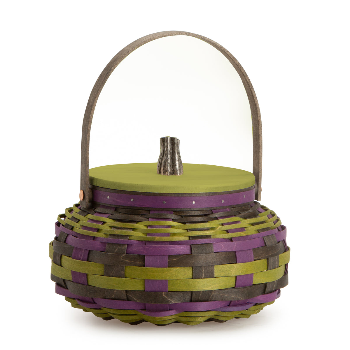 Black, Green & Purple Pumpkin Basket Set