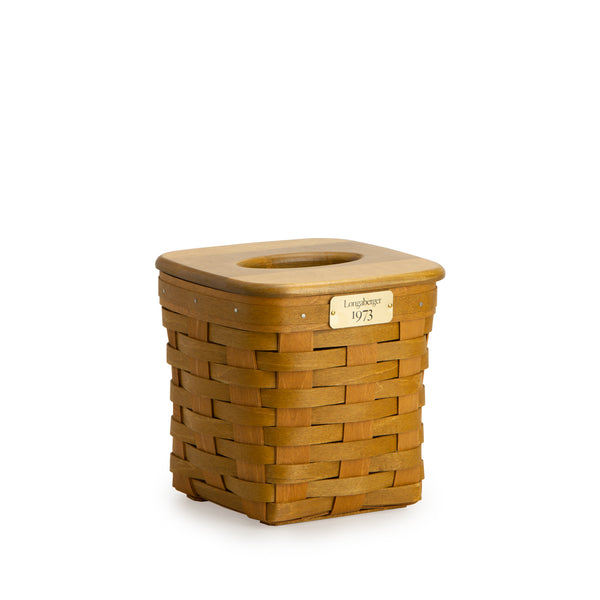 Warm Brown 1973 Tall Tissue Basket Set with Free Protector