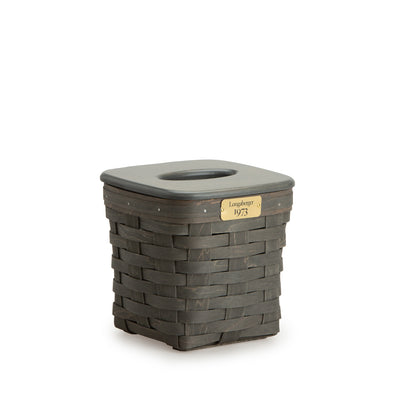 Pewter 1973 Tall Tissue Basket Set