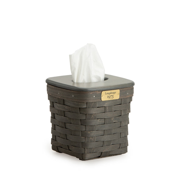 Pewter 1973 Tall Tissue Basket Set with Free Protector