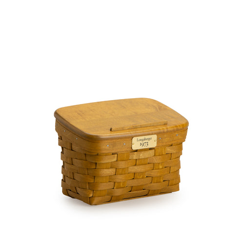 Warm Brown 1973 Recipe Basket Set