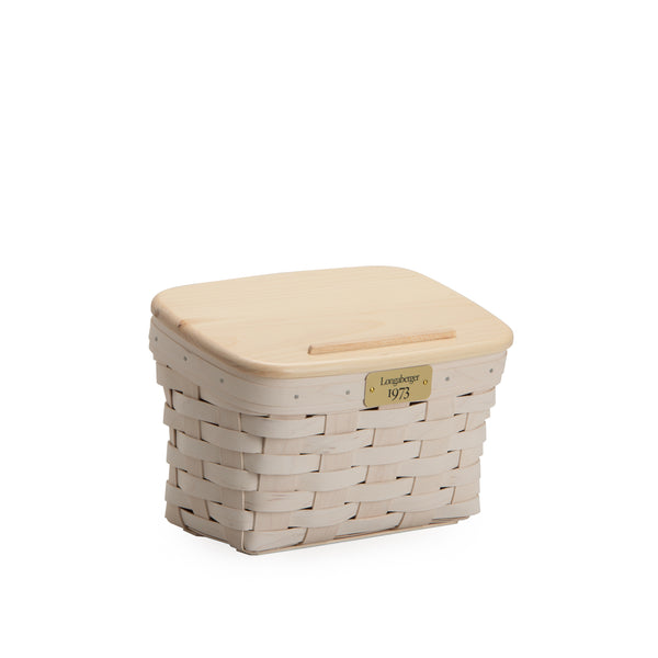 White 1973 Recipe Basket Set with Free Protector